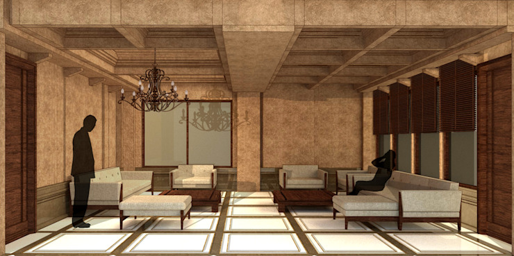 Drawing Room Eclectic style living room by homify Eclectic