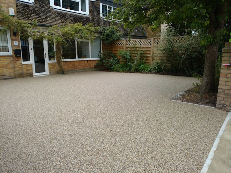 Alternative surface for driveways Permeable Paving Solutions UK Modern Walls and Floors Granite Amber/Gold