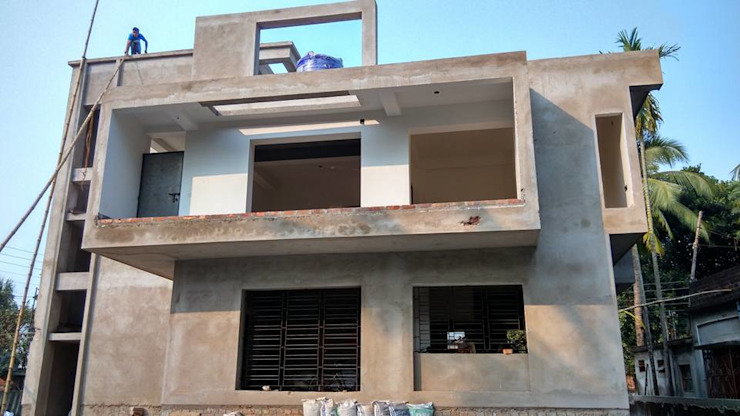Residential Bungalow at Madhyamgram, WestBengal: country  by Saad Atelier,Country