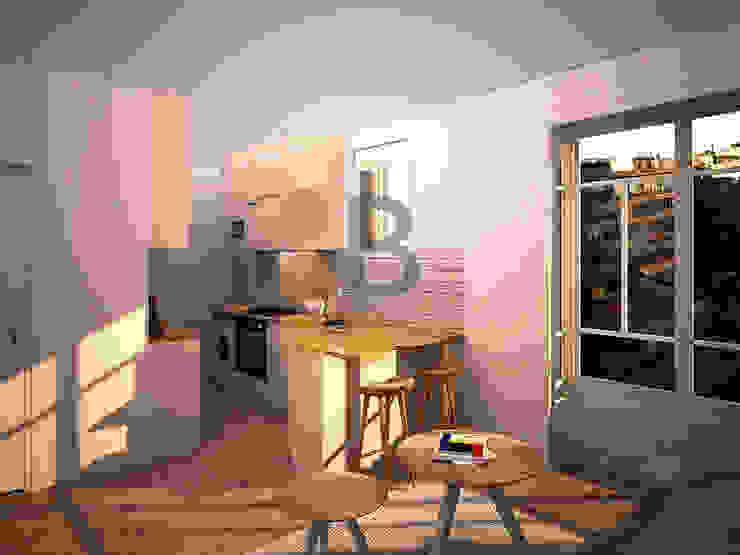 Renders. 3D. Kitchen. Cocina de Brick Serveis d'Interiorisme S.L.