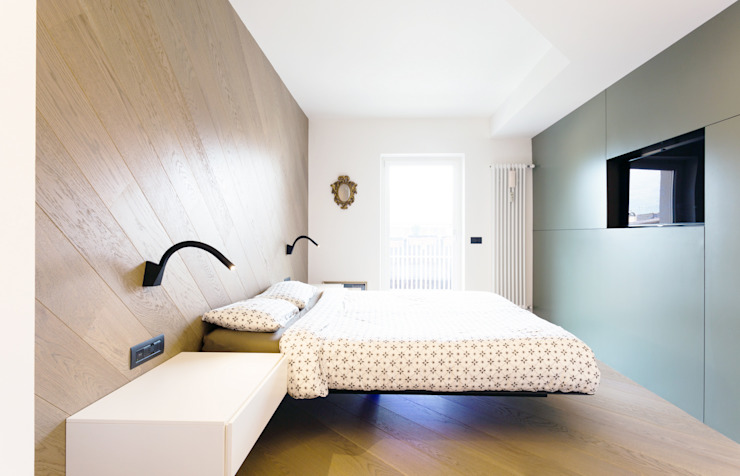wohnung L Camera da letto moderna di arch lemayr thomas Moderno