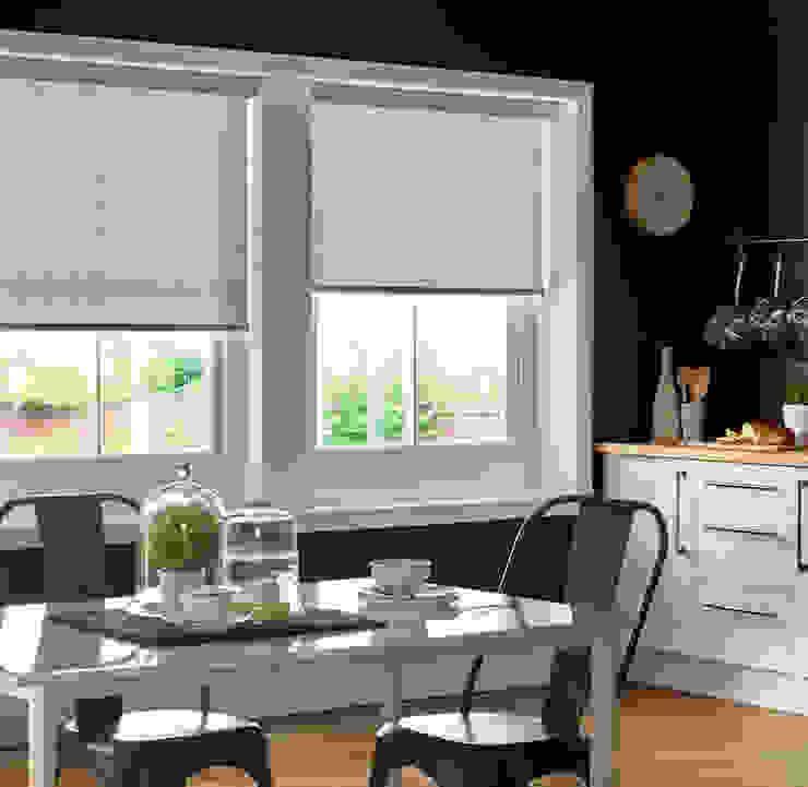 Cassablanca Grey Roller Blind Appeal Home Shading ห้องครัว