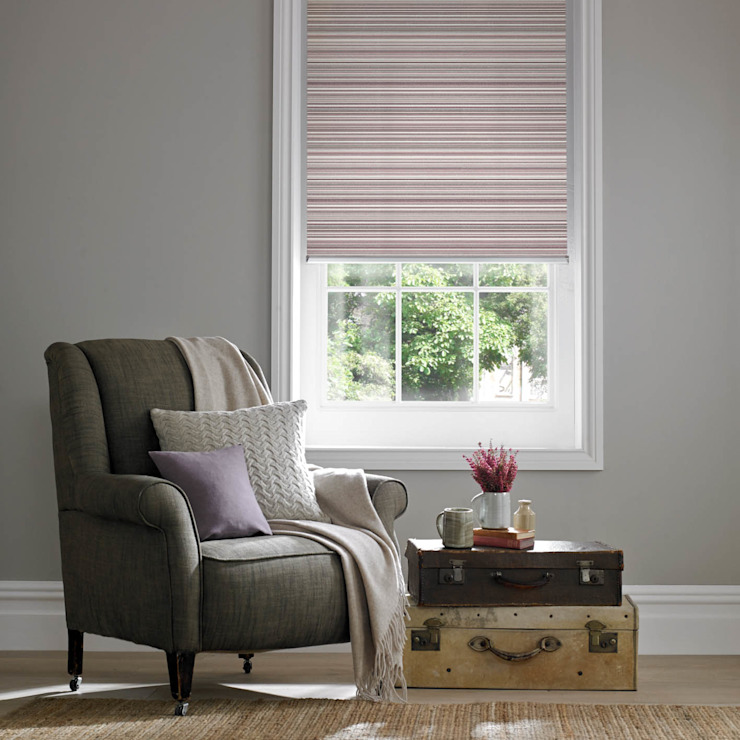 Grace Mulberry Roller Blind Modern living room by Appeal Home Shading Modern