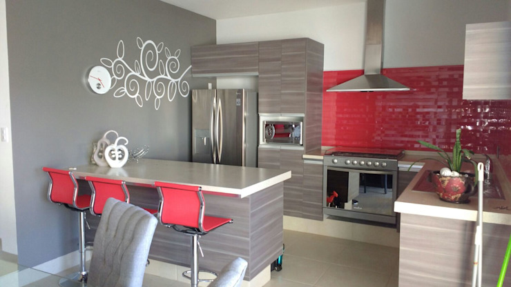 Kitchen تنفيذ homify,