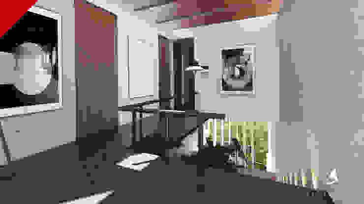 CASA BALCONES Pasillos, vestíbulos y escaleras modernos de Tectónico Moderno