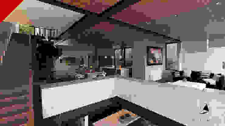 CASA BALCONES Salones modernos de Tectónico Moderno