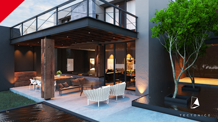 Modern balcony, veranda & terrace by Tectónico Modern