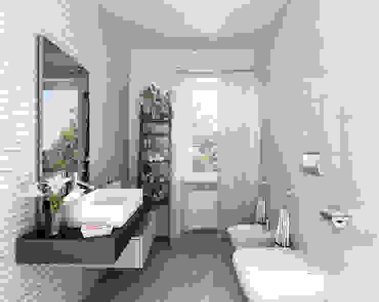 Architetto Luigia Pace Modern bathroom Ceramic White