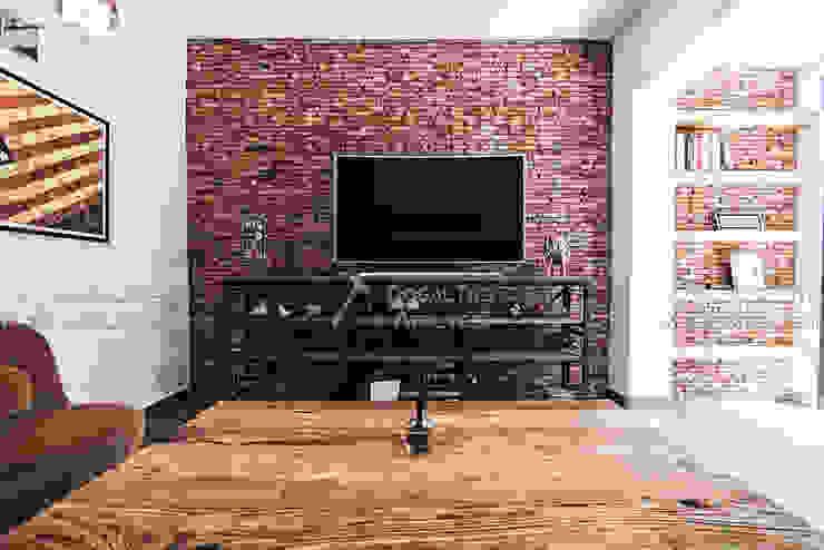 Living room by Doğaltaş Atölyesi, Rustic Bricks