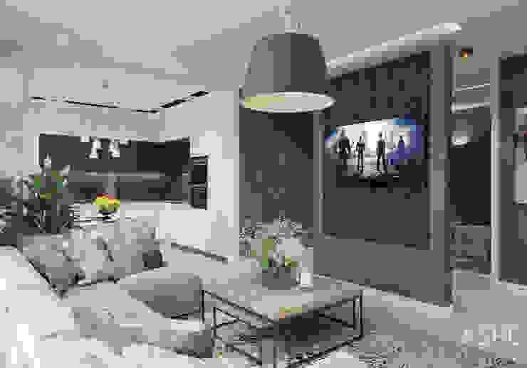 Eklektyczny salon od Студия авторского дизайна ASHE Home Eklektyczny