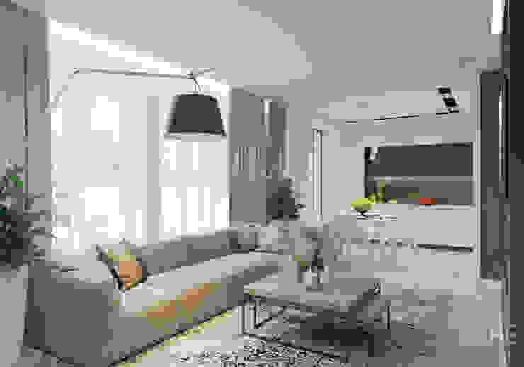 Salas de estar  por Студия авторского дизайна ASHE Home