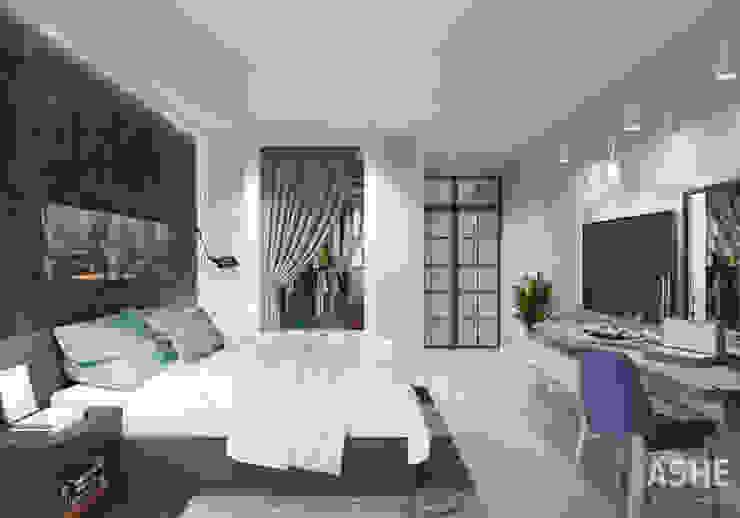 Квартира в ЖК Сосны Спальня в эклектичном стиле от Студия авторского дизайна ASHE Home Эклектичный