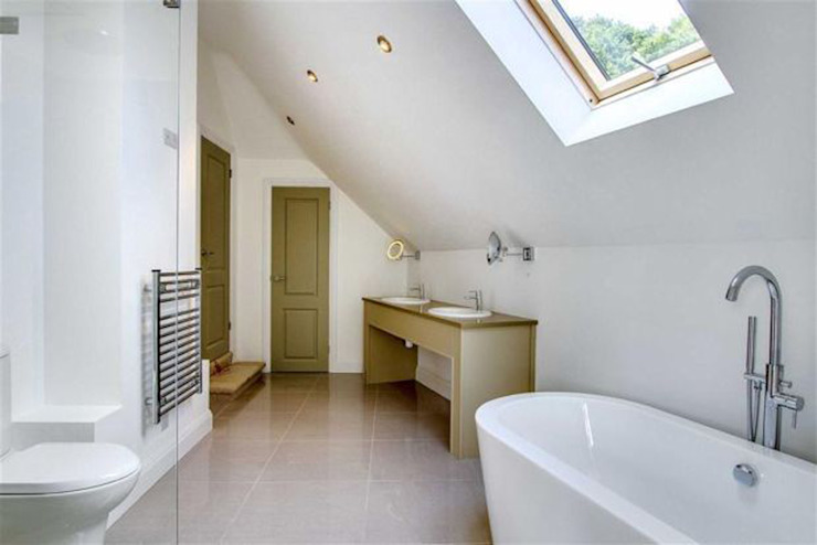 New Ensuite Bathroom with Oval Bath ArchitectureLIVE