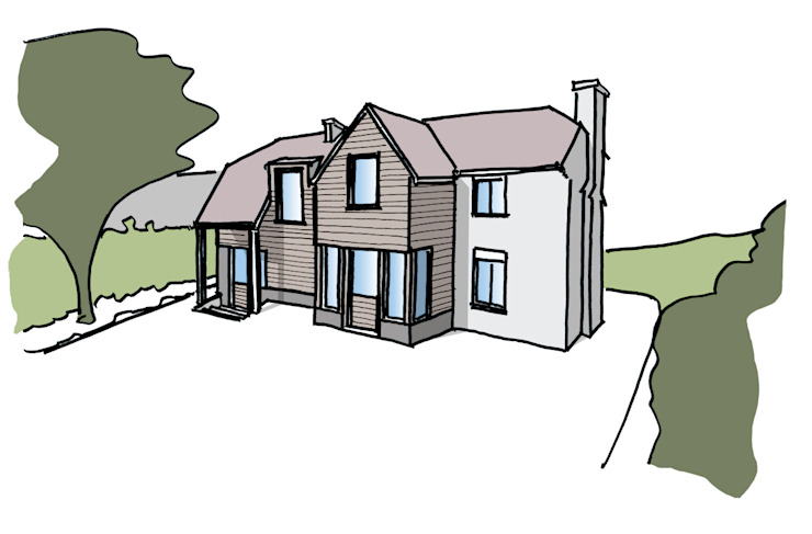 Design sketch for a property in West Sussex ArchitectureLIVE