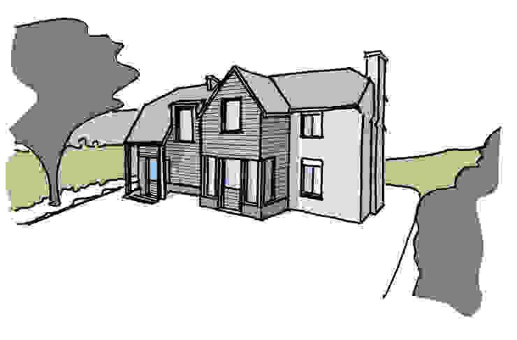 Design sketch for a property in West Sussex van ArchitectureLIVE