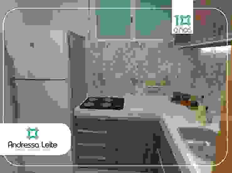 Cozinha Cozinhas modernas por Andressa Leite Arquitetura e Iluminação Moderno Azulejo