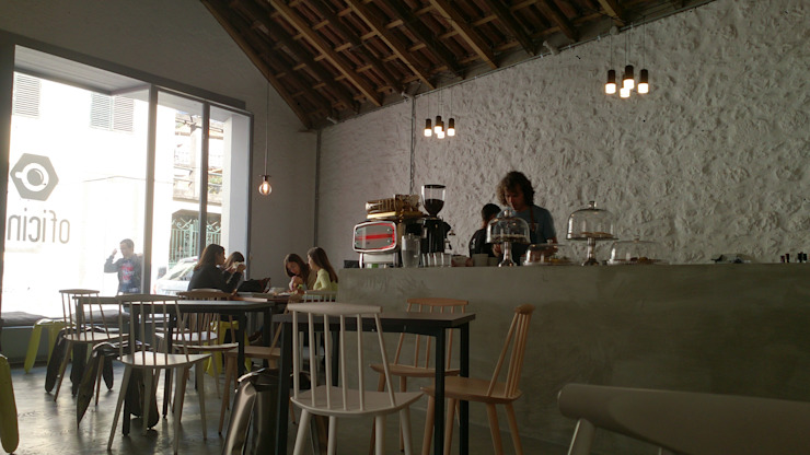 OFICINA Cafetaria:  industrial por ARQG3 - Arquitectura e Design, Unipessoal Lda.,Industrial