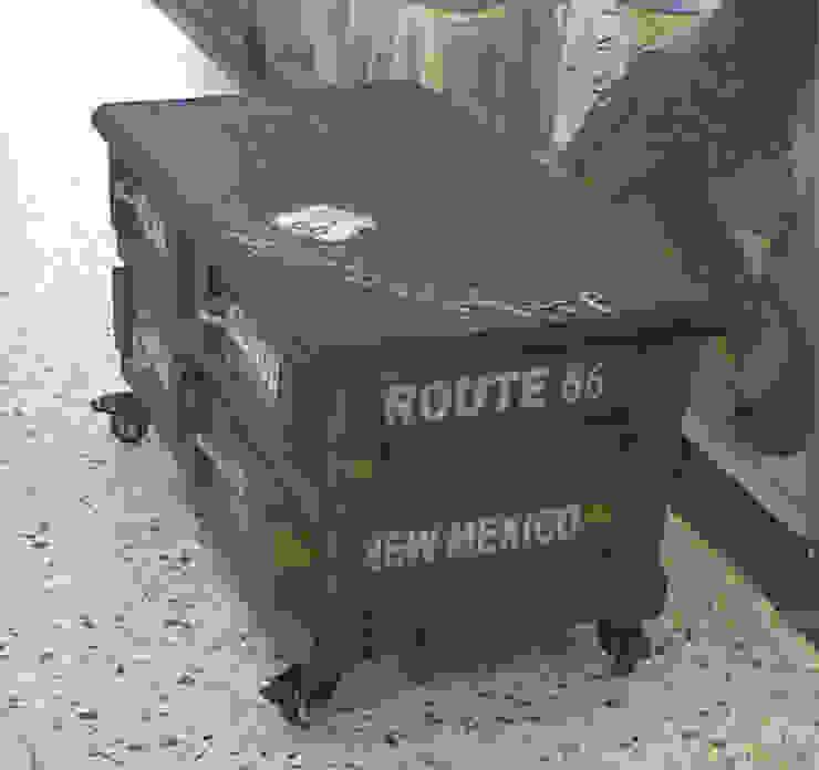 Cajonera Baja:  de estilo industrial por Abasto de Diseño, Industrial Madera Acabado en madera