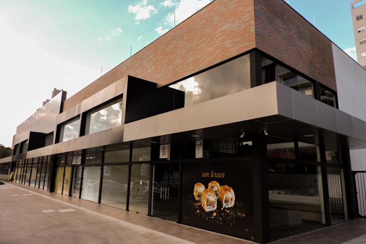 Cecyn Arquitetura + Design Negozi & Locali commerciali moderni Cemento Effetto legno