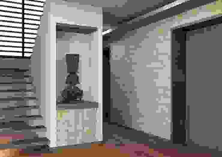 Pasillos, vestíbulos y escaleras modernos de Arq. Rodrigo Culebro Sánchez Moderno