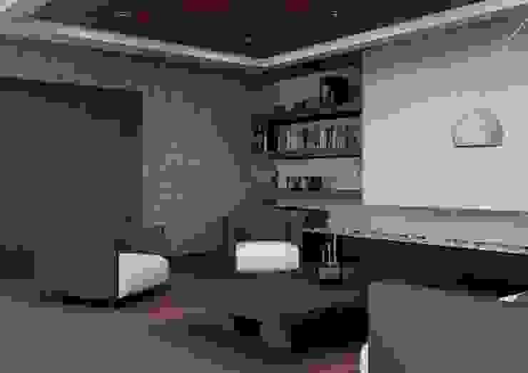 Wohnzimmer von Arq. Rodrigo Culebro Sánchez, Modern