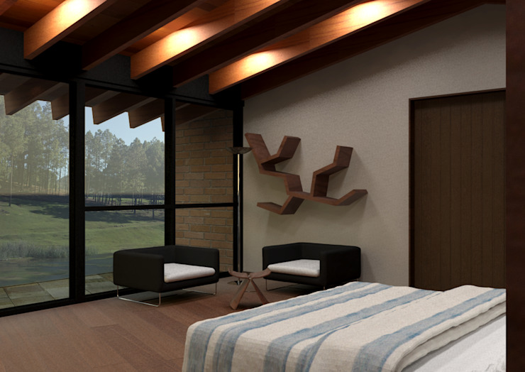 Modern Bedroom by Arq. Rodrigo Culebro Sánchez Modern
