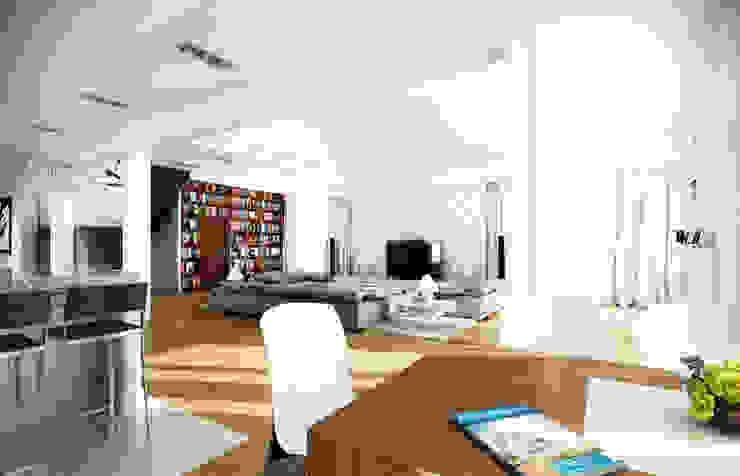 Rezydencja Parkowa Moderne woonkamers van MG Projekt Projekty Domów Modern
