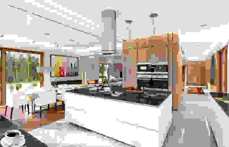 Salas / recibidores de estilo  por MG Projekt Projekty Domów, Moderno