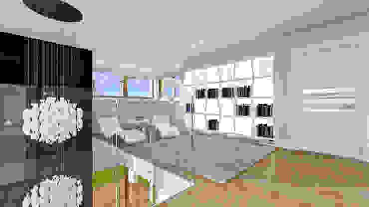 Terrazas de estilo  por MG Projekt Projekty Domów, Moderno