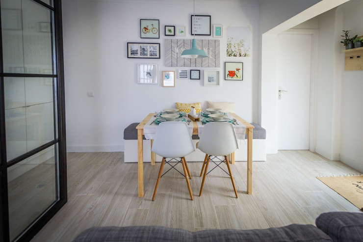 Salas de jantar escandinavas por homify Escandinavo