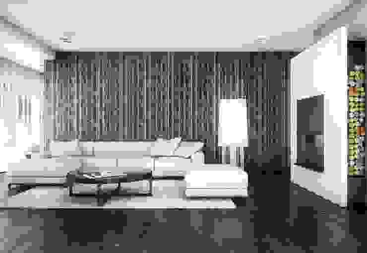 BŚ Cutout Architects Nowoczesny salon
