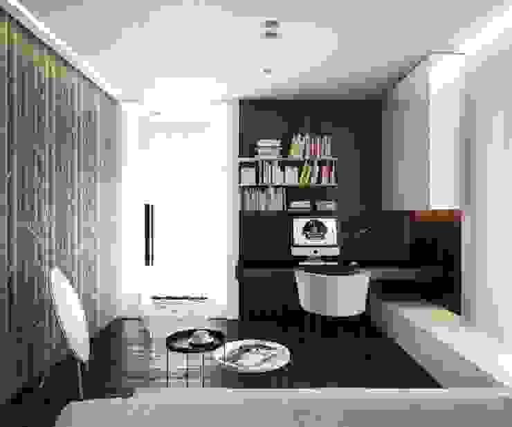 BŚ Cutout Architects Nowoczesne domowe biuro i gabinet