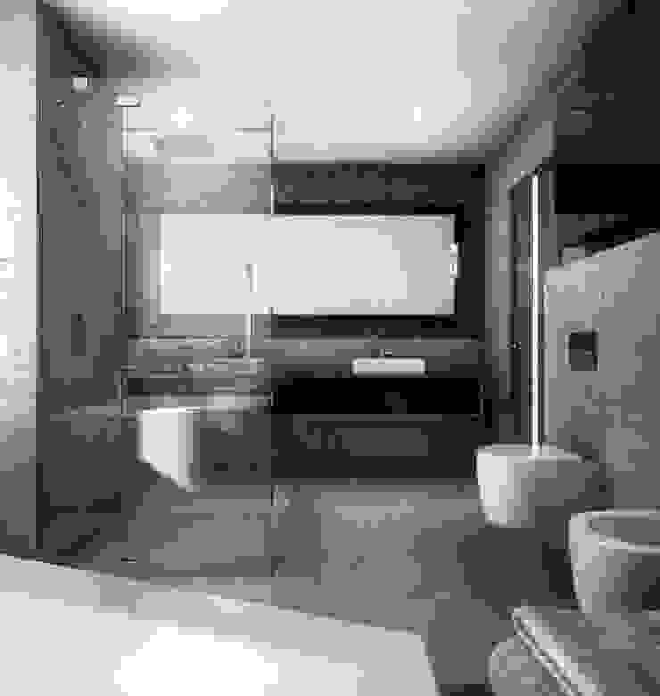 BŚ Cutout Architects Nowoczesna łazienka