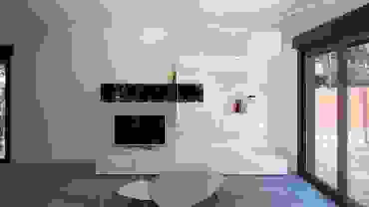 Wohnzimmer von Casas inHAUS, Minimalistisch