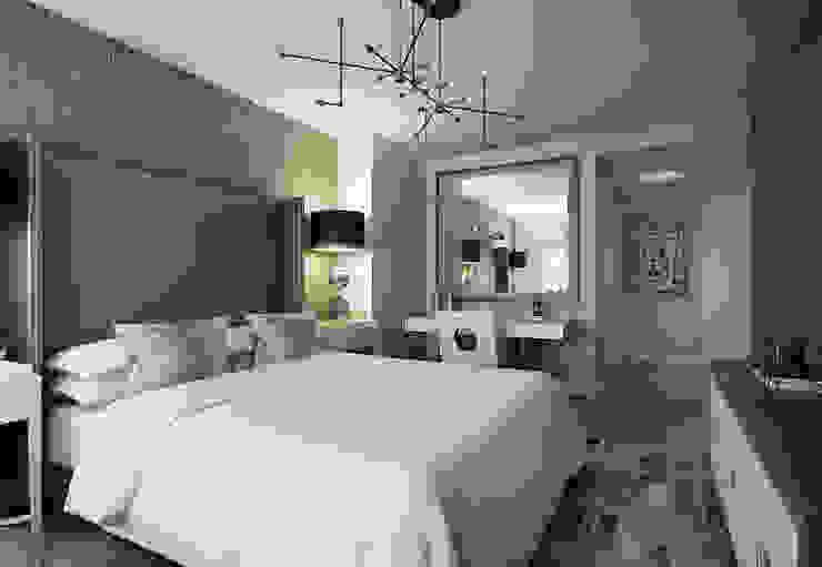 Master bedroom Спальня в эклектичном стиле от KAPRANDESIGN Эклектичный Дерево Эффект древесины