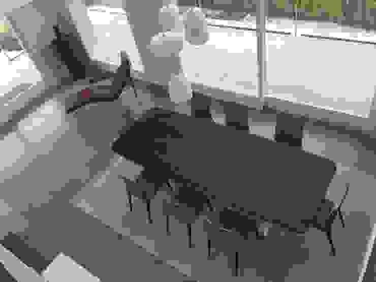 UNA ARCHITETTURA RIGOROSA di HP Interior srl Moderno Legno Effetto legno