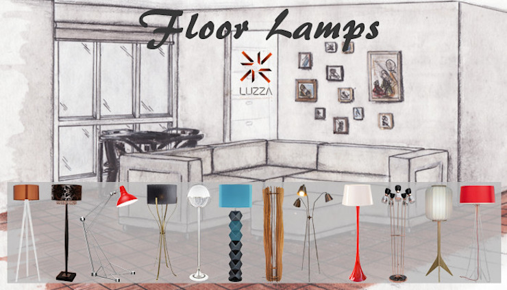 Floor lamps por LUZZA by AIPI - Portuguese Lighting Association Moderno