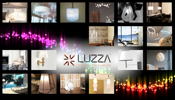 White lamps por LUZZA by AIPI - Portuguese Lighting Association Moderno