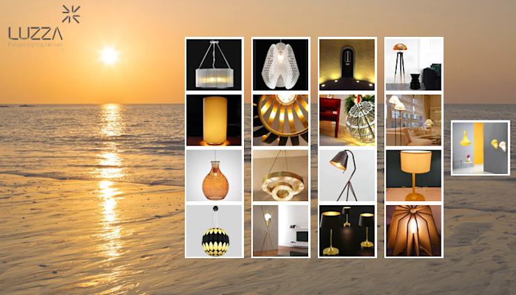 Inspirational lamps por LUZZA by AIPI - Portuguese Lighting Association Moderno