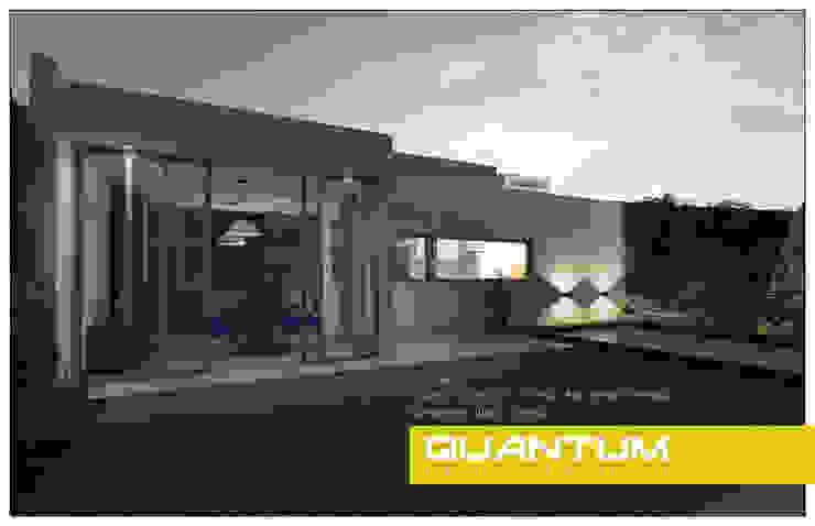 Quincho + piscina_nocturno Piletas minimalistas de Betiana Denardi   Arquitecta Minimalista