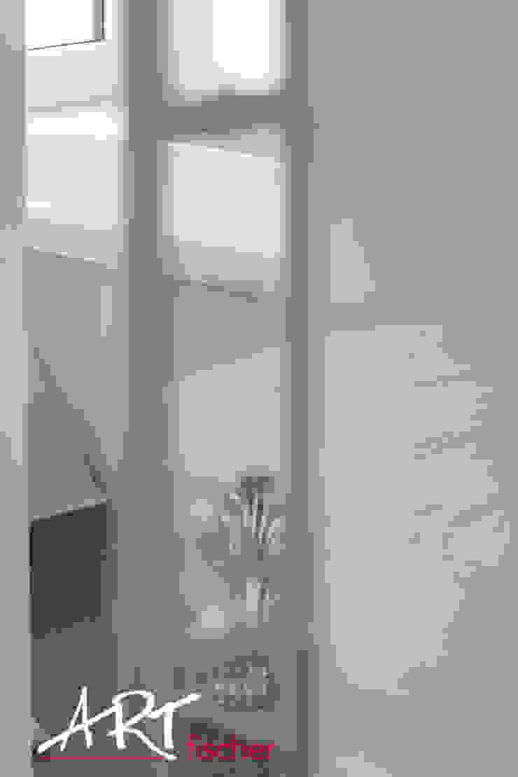 Baños de estilo ecléctico de ARTfischer Die Möbelmanufaktur. Ecléctico Vidrio