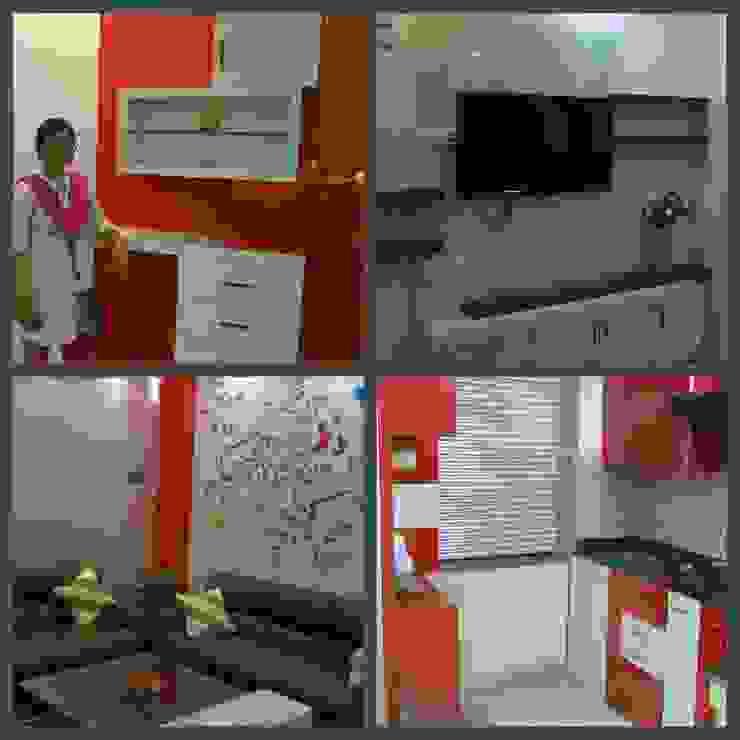 LIVING AND KITCHEN: modern  by Elegant Dwelling,Modern Plywood