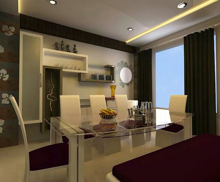 Dining area with wall units: modern  by Elegant Dwelling,Modern Plywood