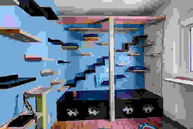 Quartinho dos Gatos: Quartos  por Eveline Maciel - Arquitetura e Interiores