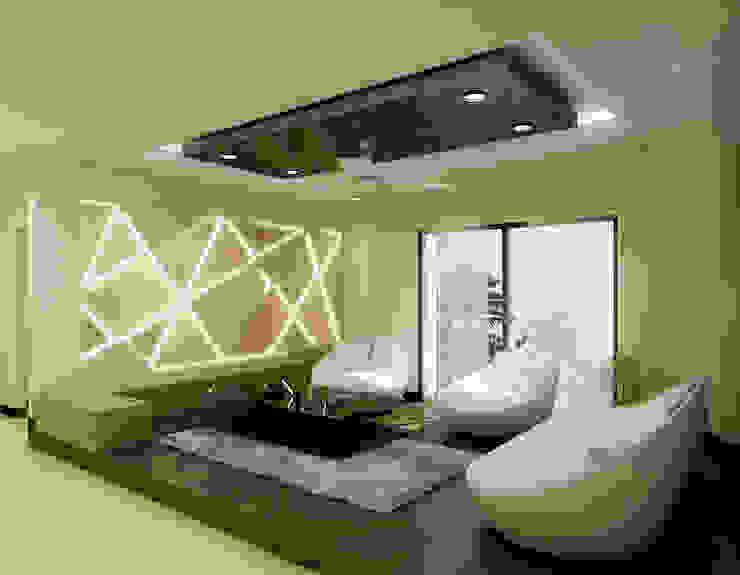 Salas de estilo moderno de The Brick Studio Moderno