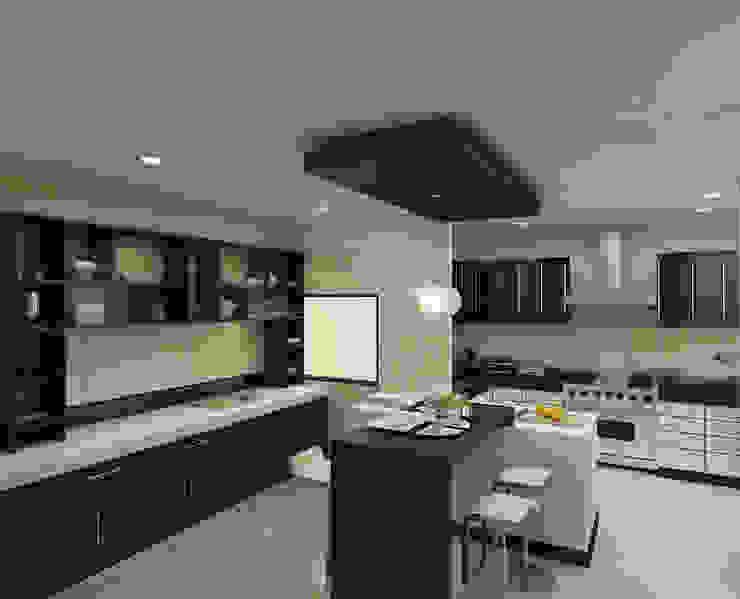 Kitchen Modern kitchen by The Brick Studio Modern
