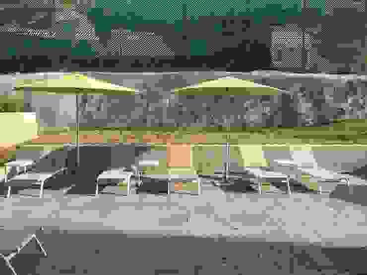 Area de Alberca Locaciones para eventos de estilo minimalista de SINDO OUTDOOR Minimalista Aluminio/Cinc