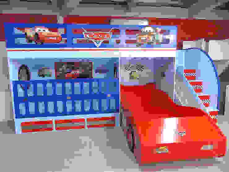 Fabulosa litera estilo Cars de Kids Wolrd- Recamaras Literas y Muebles para niños Moderno Derivados de madera Transparente
