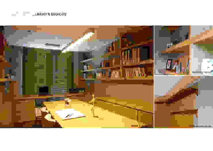 Ruang Studi/Kantor Minimalis Oleh 스튜디오메조 건축사사무소 Minimalis Kayu Wood effect