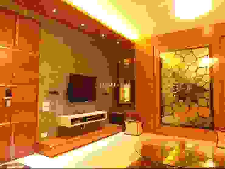 Mallika Seth Industrial style media room